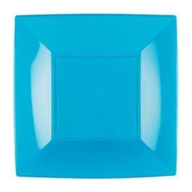 Assiette Plastique Réutilisable Plate Turquoise PP 180mm (25 Utés)