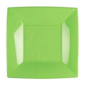 Assiette Plastique Réutilisable Plate Vert Citron PP 230mm (300 Utés)