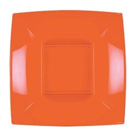 Assiette Plastique Réutilisable Creuse Orange PP 180mm (300 Utés)