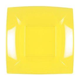 Assiette Plastique Réutilisable Creuse Jaune PP 180mm (25 Utés)