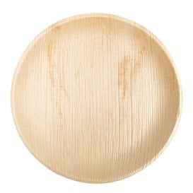 Assiette en Feuilles de Palmier 25,0 cm (25 Unités)