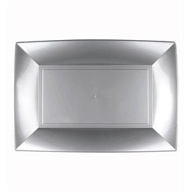 Plateau Plastique Gris Nice PP 280x190mm (12 Utés)