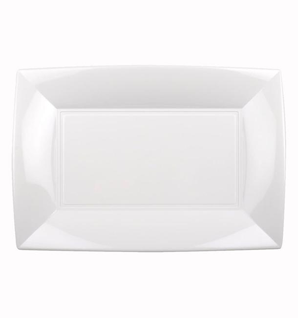 Plateau Plastique Blanc Nice PP 280x190mm (12 Utés)