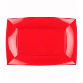 Plateau Plastique Rouge Nice PP 280x190mm (240 Utés)