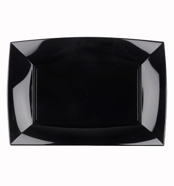 Plateau Plastique Noir Nice PP 280x190mm (12 Utés)