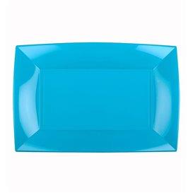Plateau Plastique Turquoise Nice PP 280x190mm (12 Utés)
