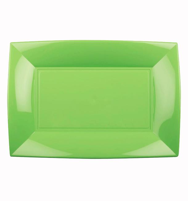 Plateau Plastique Vert citron Nice PP 280x190mm (240 Utés)