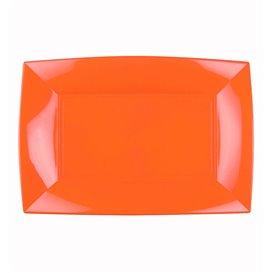 Plateau Plastique Orange Nice PP 280x190mm (12 Utés)
