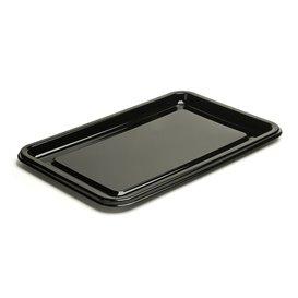 Plateau Plastique Rectangulaire Noir 46x30 cm (50 Utés)