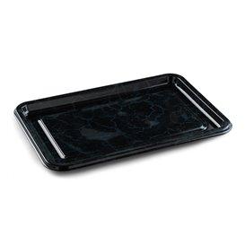 Plateau Plastique Rectangulaire Noir 55x37 cm (10 Utés)