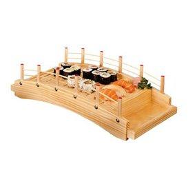 Pont en Bois pour Sushi 43x21,5x12,5cm (1 Uté)