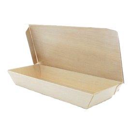 Couvercle jetable en bois 15,5x8,5cm (25 Unités)
