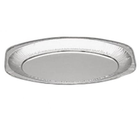 Bandeja Ovalada de Aluminio 870ml  (Caja 100 Uds)