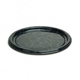 Assiette en Plastique Rond Marbré 18 cm (250 Utés)