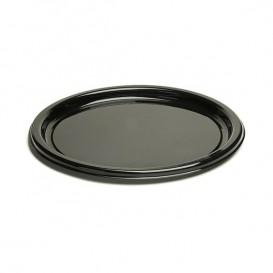Assiette en Plastique Rigide Noire 18cm (25 Utés)