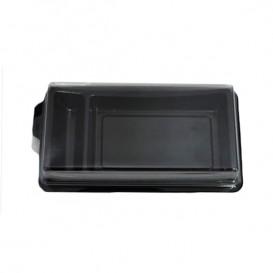 Plateau Sushi Noir 148x78mm (10 Unités)