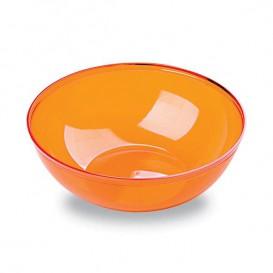 Bol PS Cristal Dur Orange 400ml Ø14cm (4 Utés)