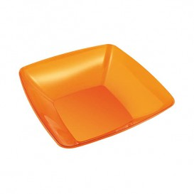 Bol PS Cristal Dur Orange 480ml 14x14cm (4 Utés)