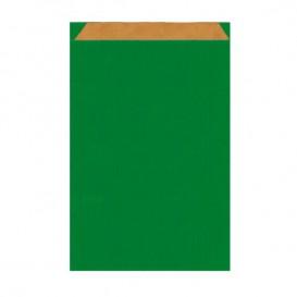 Sac Papier Kraft Vert 12+5x18cm (125 Unités)