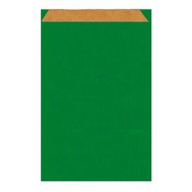 Sac Papier Kraft Vert 19+8x35cm (750 Unités)