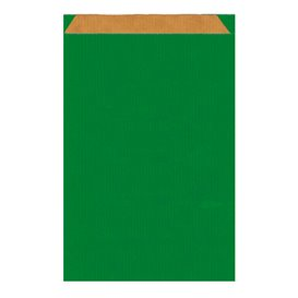 Sac Papier Kraft Vert 19+8x35cm (125 Unités)