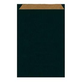 Sac Papier Kraft Noir 26+9x38cm (750 Unités)