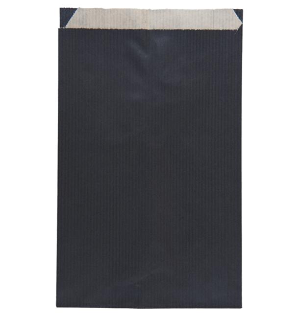 Sac Papier Kraft Noir 12+5x18cm (1500 Unités)