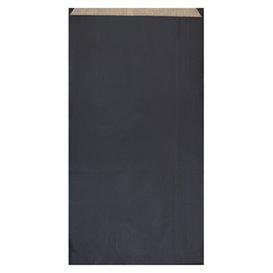 Sac Papier Kraft Noir 19+8x35cm (125 Unités)