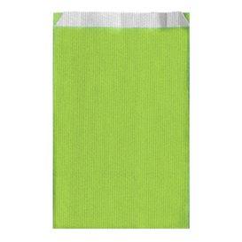 Sac Papier Vert Anis 19+8x35cm (125 Unités)