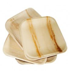 Assiette carrée en Feuilles de Palmier 15x15cm (200 Unités)