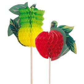 Piques de Décoration Fruit 20cm (100 Unités)