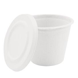 Couvercle en Canne à Sucre Blanc pour Pot 425ml Ø95mm (50 Utés)
