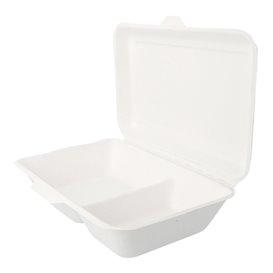 Boîte en Canne à Sucre 2C Blanc 225x165x64mm (500 Utés)