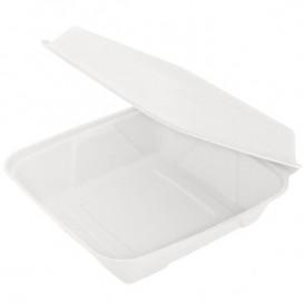 Boîte en Canne à Sucre Blanc 225x225x75mm (50 Unités)