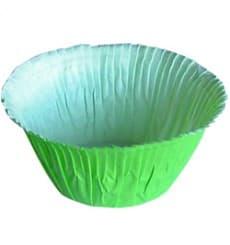 Cápsulas para Cupcakes Verdes  4,9x3,8x7,5cm. (80 Unidades)