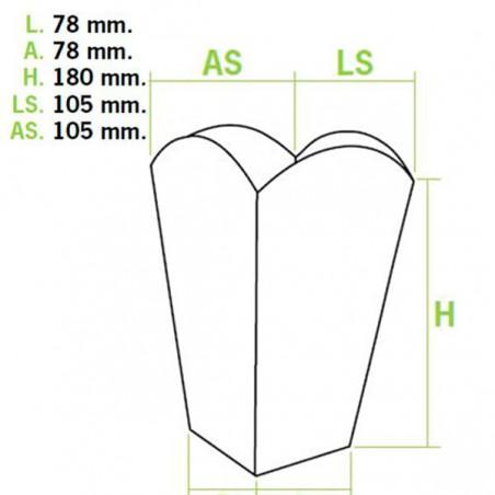Etuis à Pop-Corn Moyen 90g 7,8x10,5x18cm (350Utés)