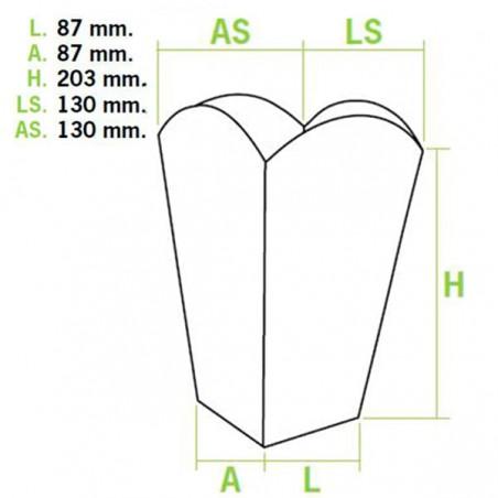 Etuis à Pop-Corn Grand 150g 8,7x13x20,3cm (50 Utés)