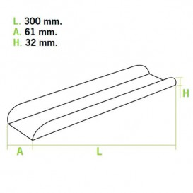 Plateau à sandwich 30x6,1x3,2cm (100 Unités)