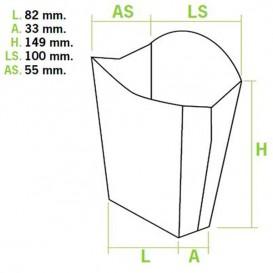 Etuis à Frites Grand 8,2x3,3x14,9cm(40 Utés)