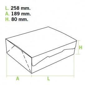 Boîte pâtissière 25,8x18,9x8cm 2Kg. Blanc (5 Utés)