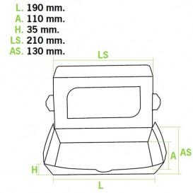 Barquette carton Premium 21x13x3,5cm 730ml (25 Utés)