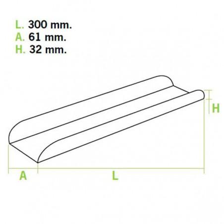 Plateau Pâtisserie 30x6,1x3,2cm (50 Unités)