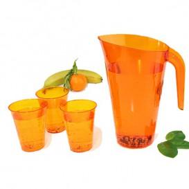 Carafe Plastique Orange Réutilisable 1.500 ml (1 Unité)