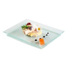 """Plateau en plastique dur """"Water Green"""" 13x18 cm (4 Unités)"""