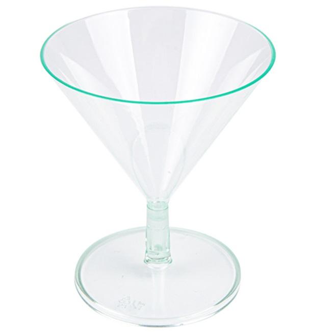 Coupe en Plastique Vert Transparent 65ml (12 Utés)