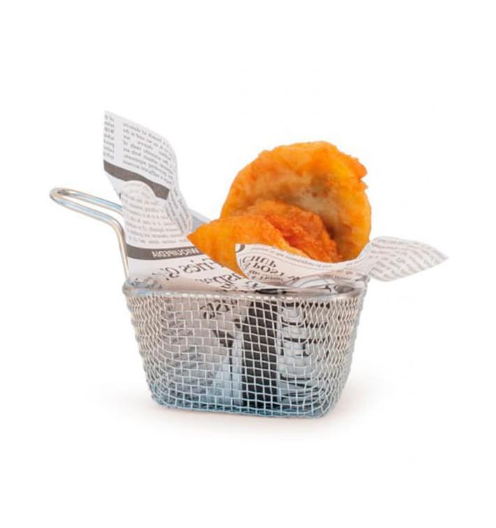 Mini friteuse de Présentation en Acier 10x9x6cm (1 Unité)