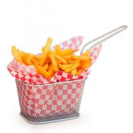 Mini friteuse de Présentation en Acier 10x10x7,5cm(6 Unités)