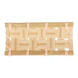"""Barquette en Bambou """"Tresse"""" 10,5x5cm (24 Utés)"""