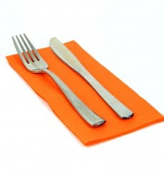 Serviette Papier molletonnée 1/8 40X40 Orange (50 Unités)