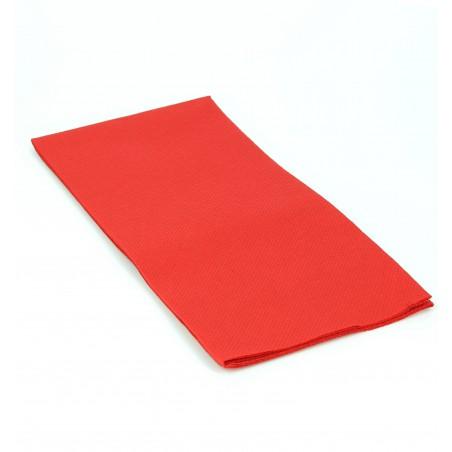 Serviette en papier 1/8 40X40 ROUGE (1.200 Unités)